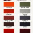 Aksikor - paleta kolorów