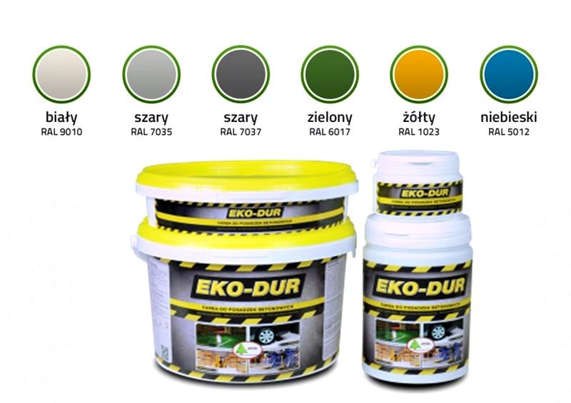 eko-dur farba paleta