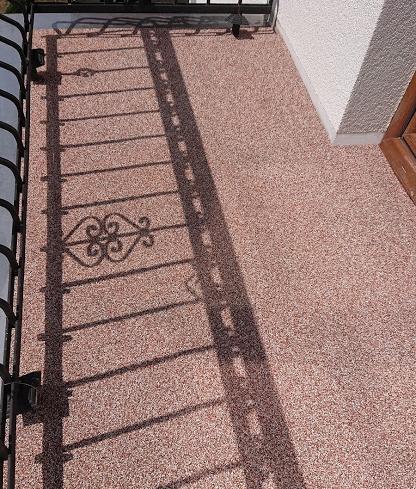 balkon kamienne dywany